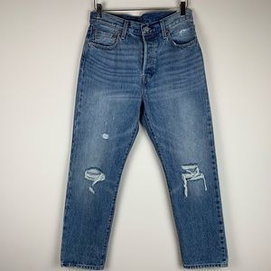 Levi's 501 Original Distressed Straight leg Jeans